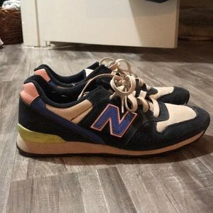 New balance blue pink and lime green sneaker
